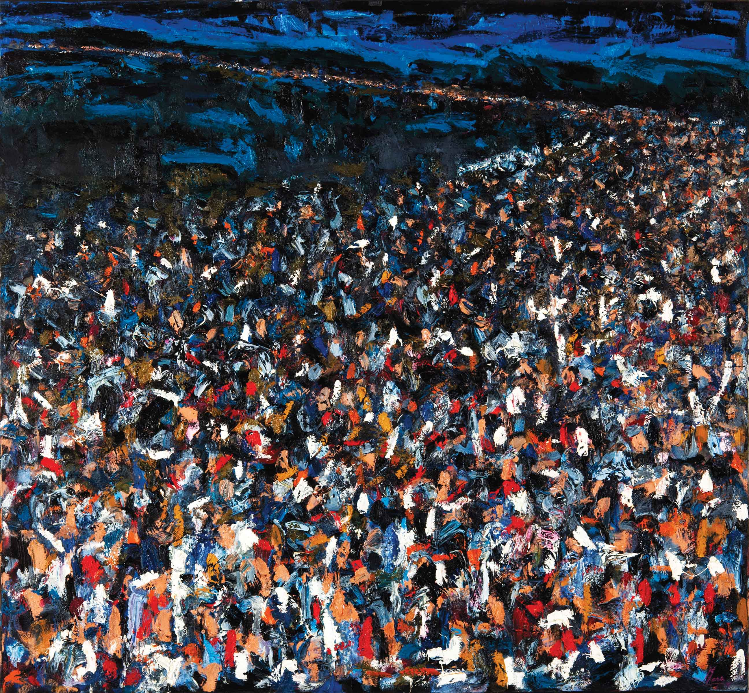 "Fabio Mesa, Noche en el tiempo (Night through Time), 2010, oil on canvas, 51"" x 55"""
