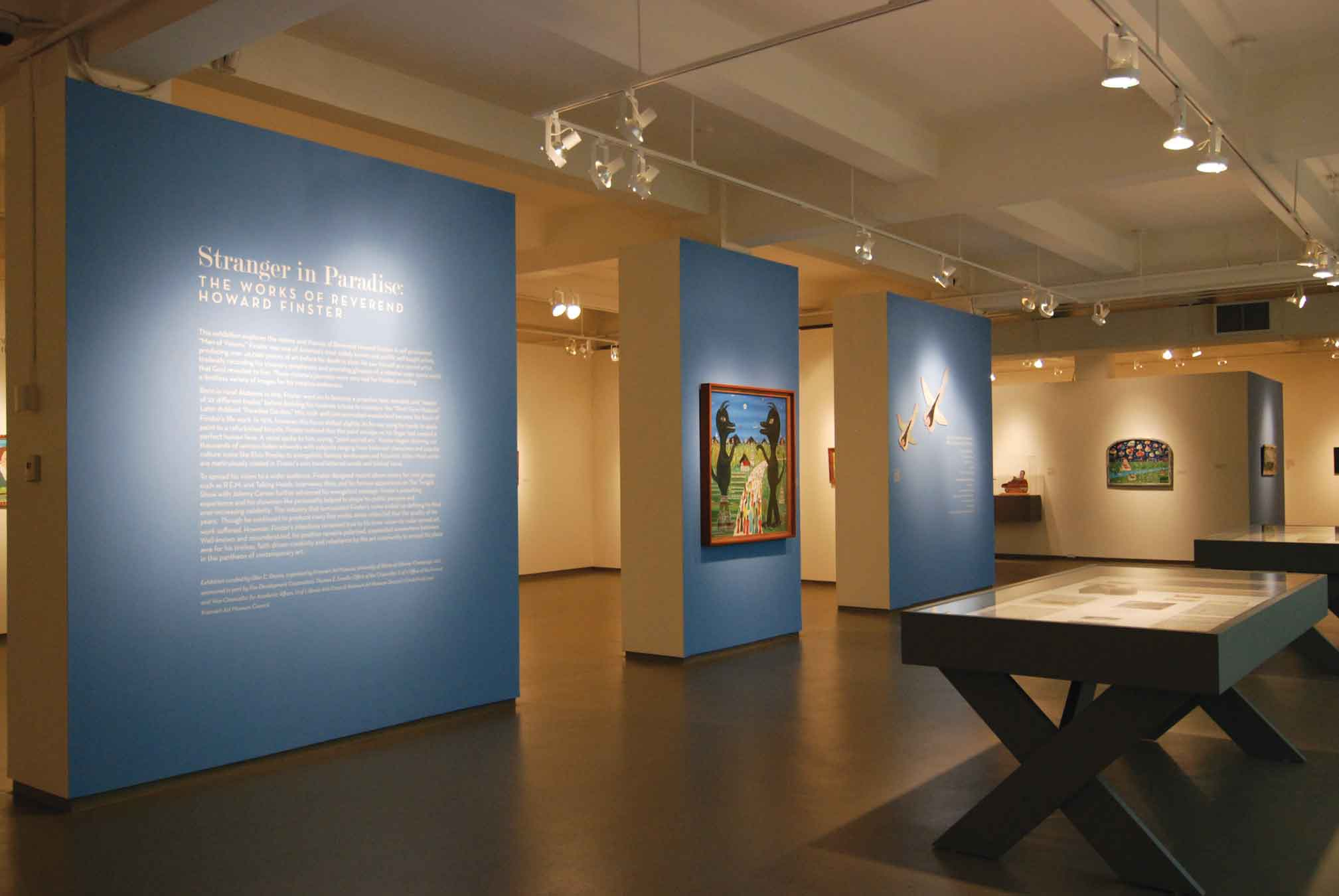 "Installation view. Exhibition ""Stranger in Paradise: The Works of the Reverend Howard Finster"" (April 22 – August 28, 2011)"
