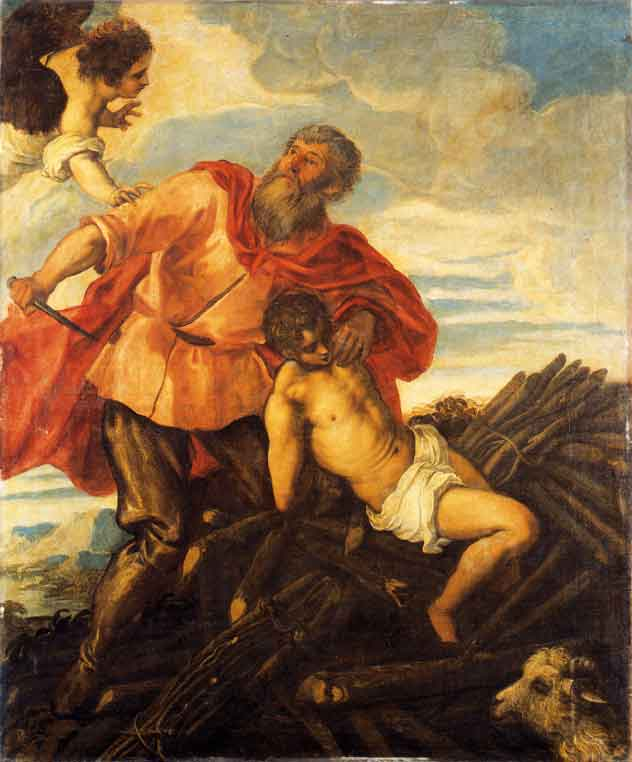Jacopo Robusti, called Tintoretto, Sacrifice of Isaac, 1550-1555, oil on canvas. Collection of the Uffizi Gallery, Florence, Italy.