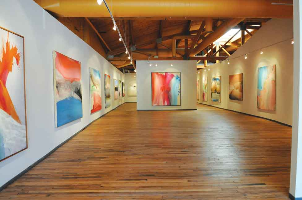 The N'Namdi Center for Contemporary Art in Detroit, Michigan, gallery view.