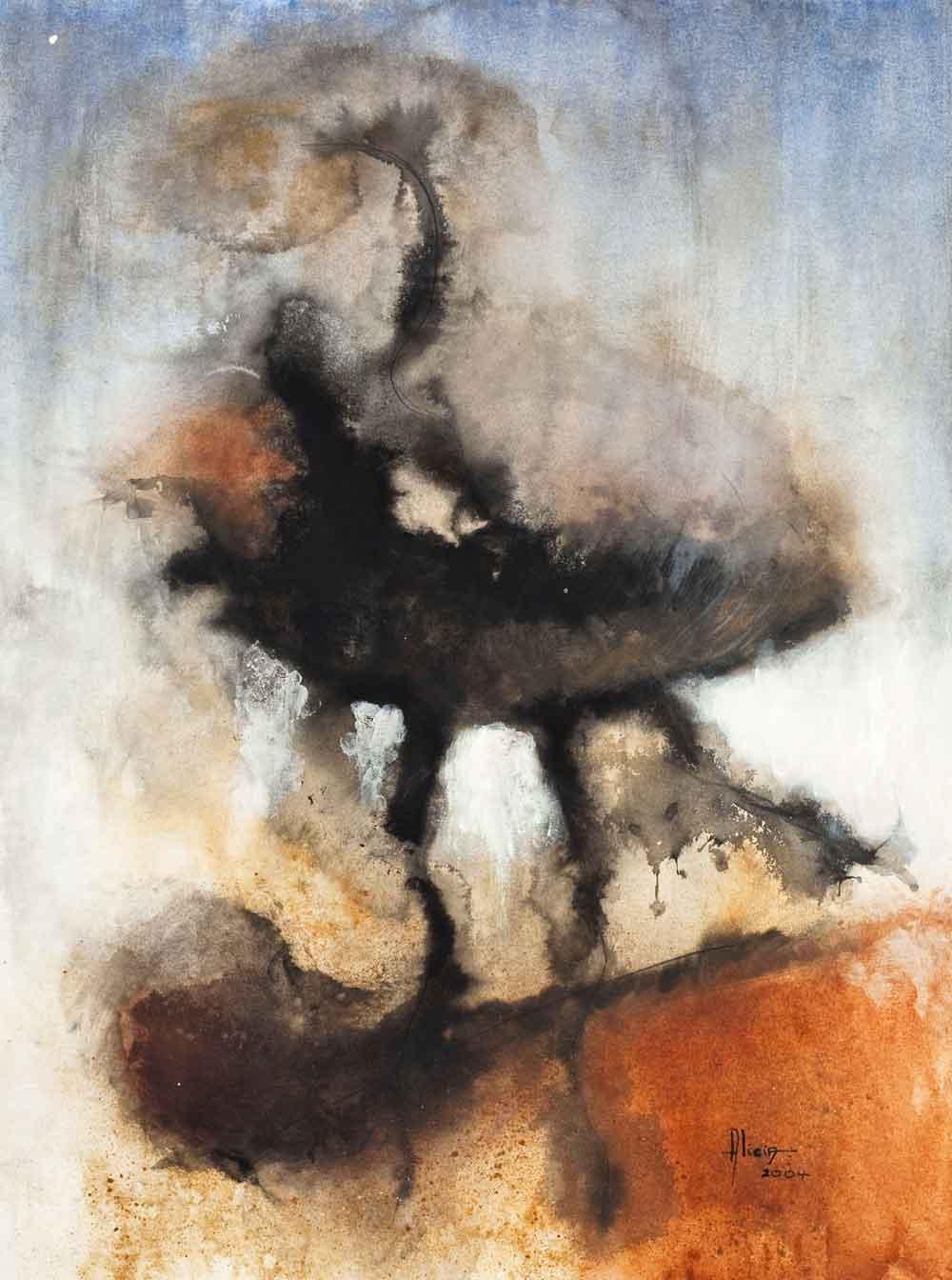 """Abstract II, 2007, mixed media on canvas, 40"""" x 60"""". Photo: Oriol Tarridas"""
