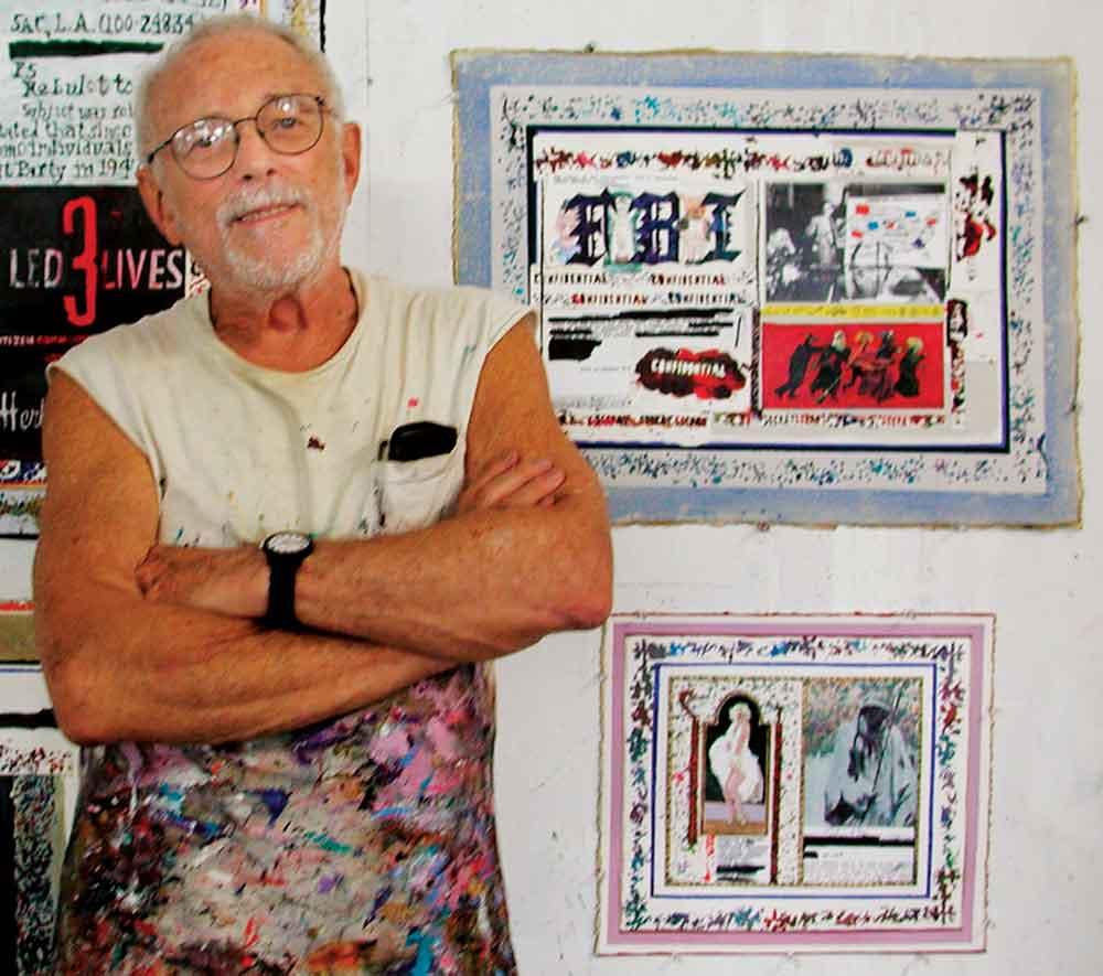 Artist Arnold Mesches. Photo: Jim Costanzo. Courtesy of Courtesy of Miami Dade College Museum of Art + Design.