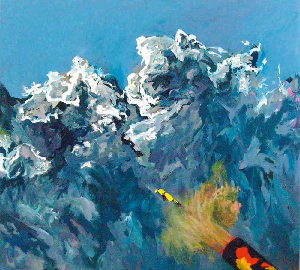 "Arnold Mesches, Weather Patterns 8, 2009; acrylic on canvas, 60"" x 66"". Collection James R. Epstein and Richard A. Epstein, Washington, DC."