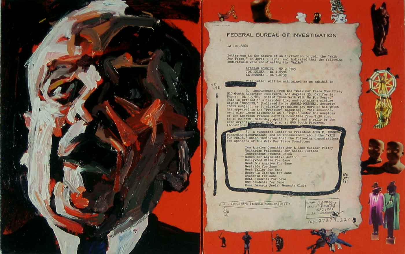 "Arnold Mesches, The FBI Files # 56, 2003, 14"" x 22"""