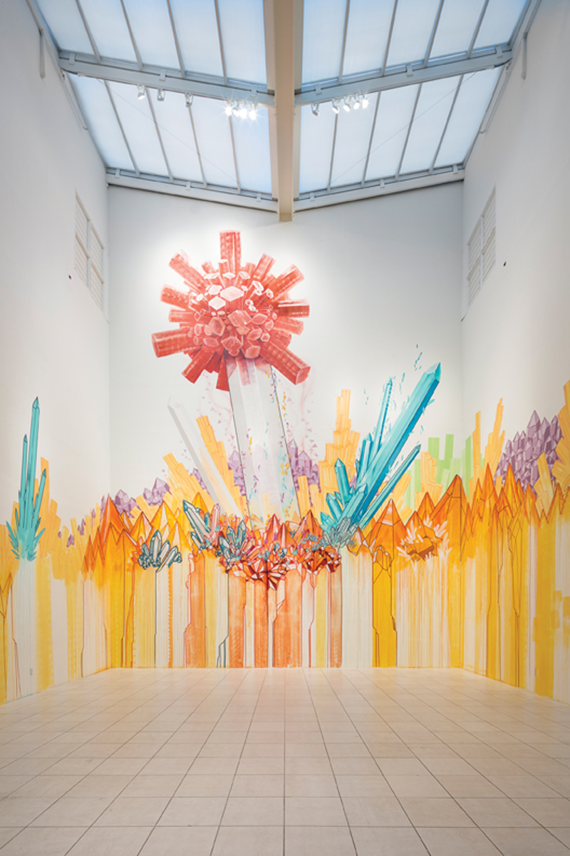 Shaun Thurston, Project Atrium: One Spark, 2014, mixed media. Museum of Contemporary Art Jacksonville, Jacksonville, Florida.