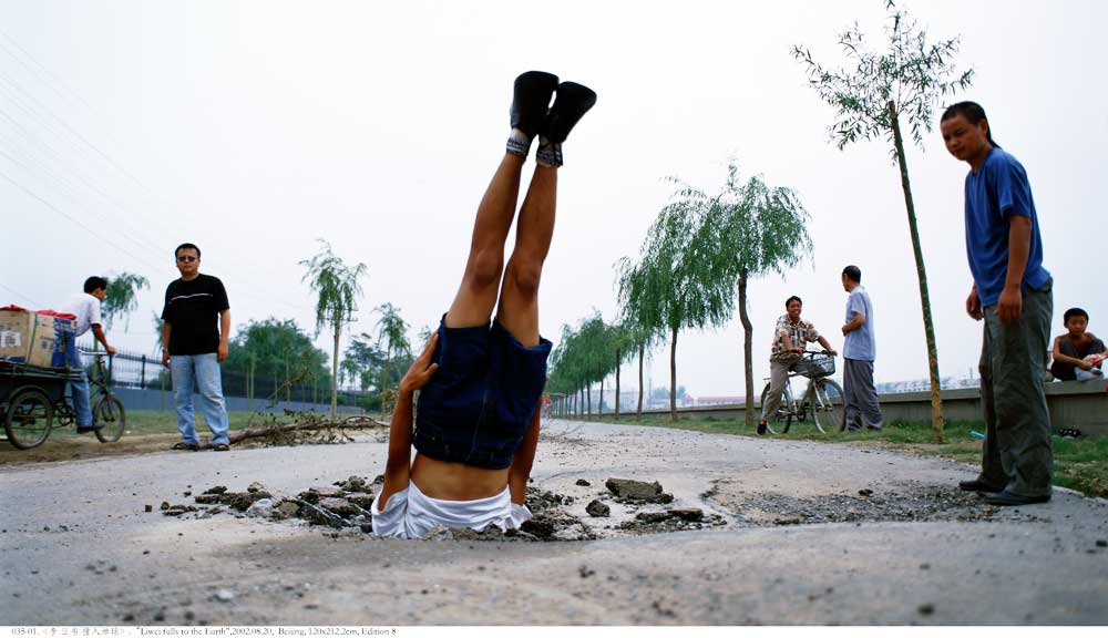 Li Wei (1970-) Li Wei Falls to the Earth, 2012, 120x212 cm, C-Print, Courtesy of the artist.