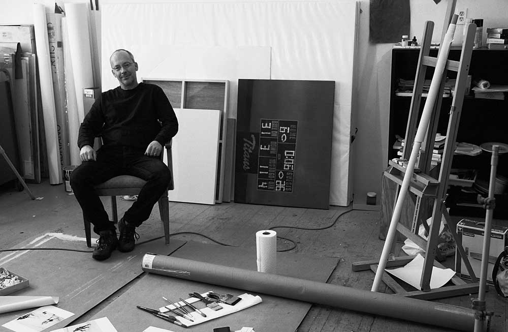 David Rathman at his studio. Courtesy of the artist.