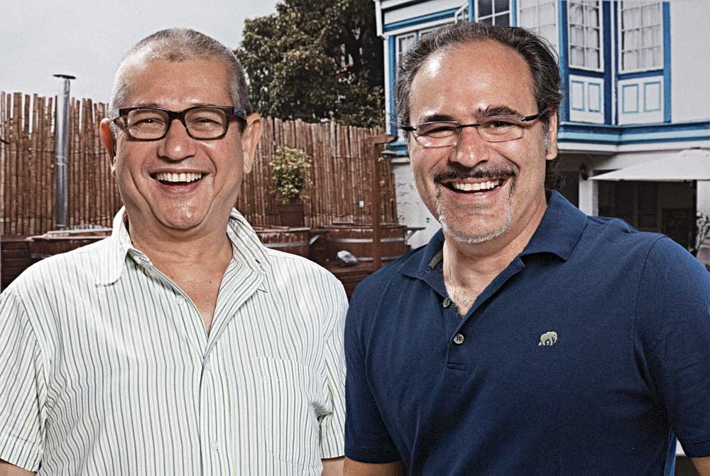 Curator and art critic José Antonio Navarrete with ArtMedia Studio & Gallery director Gady Alroy.