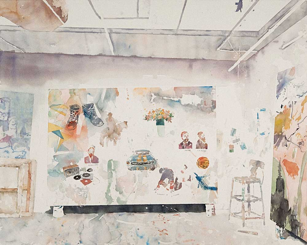 "David Rathman, All My Lovelies, 2010, watercolor on paper, 40"" x 48."" Courtesy of the artist."