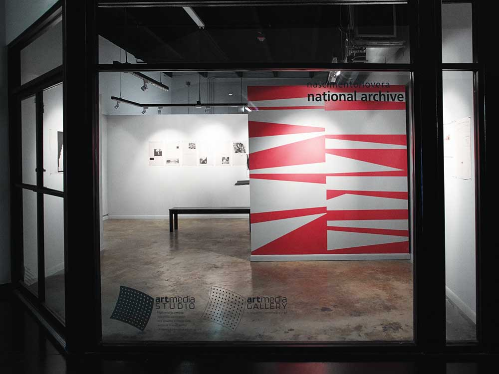 """""""National Archive,"""" Nascimento/Lovera's exhibition at ArtMedia Gallery, January 2013."""