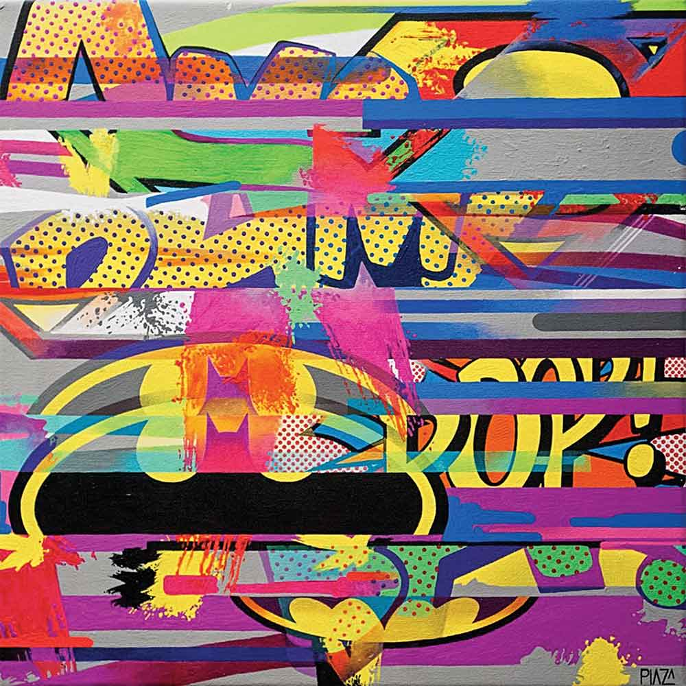 """Alejandro Plaza, Come from above Nbr. 3, 2014, acrylic on canvas, 16"""" x 16."""""""