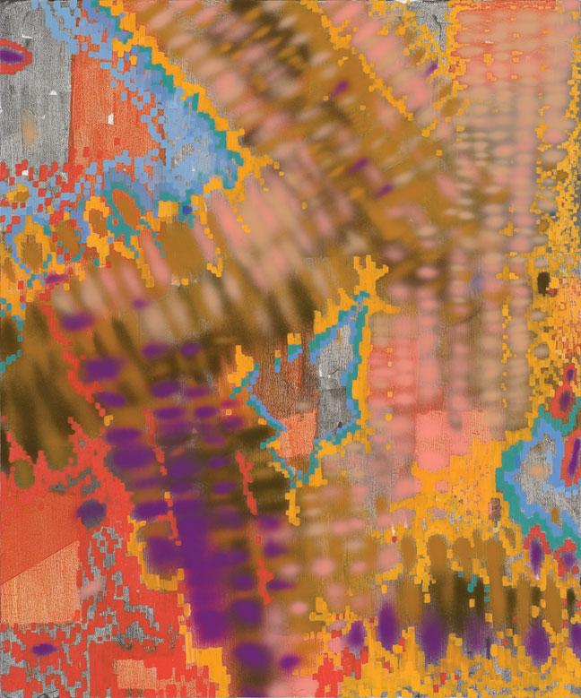 "Keltie Ferris, Maxxx, 2012, oil and acrylic on canvas, 72"" x 60."" Courtesy of Mitchell-Innes & Nash, New York."