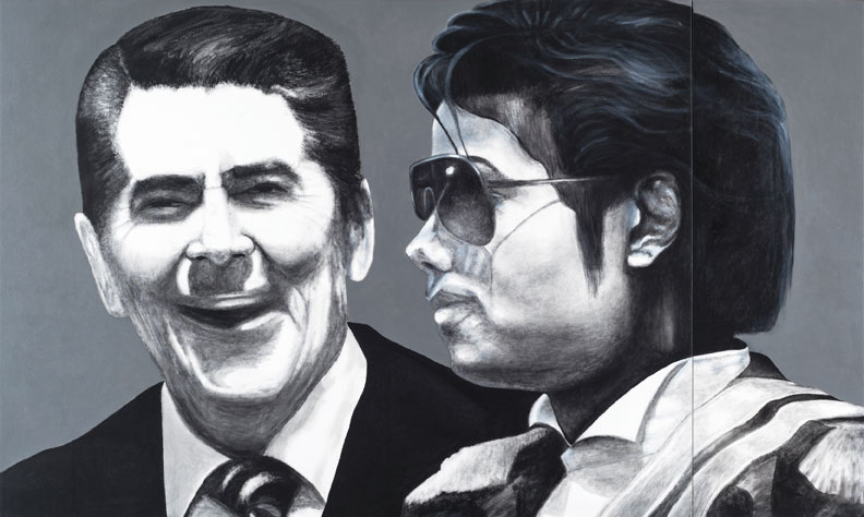 "Antonio Cortés Rolón, Ronald y Michael, 2012, acrylic on canvas, 36"" x 60."""