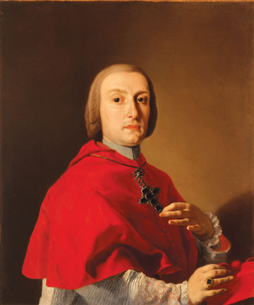 "Francesco de Mura, Portrait of Cardinal Antonio Sersale, May 20, 1756, oil on canvas, 34"" × 28."" Collection of Myron Laskin, Jr., on extended loan to the Milwaukee Art Museum."