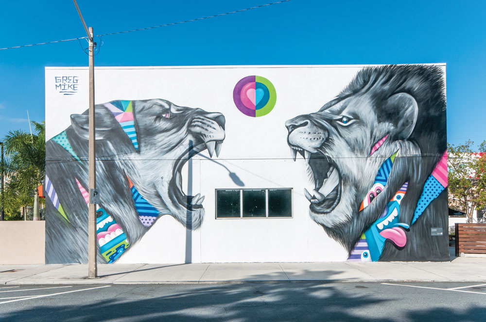 Greg Mike, True Love, mural, 501 Fern St., West Palm Beach, FL, Canvas Outdoor Museum 2015. Photo: Adrian Wilcox Photography.