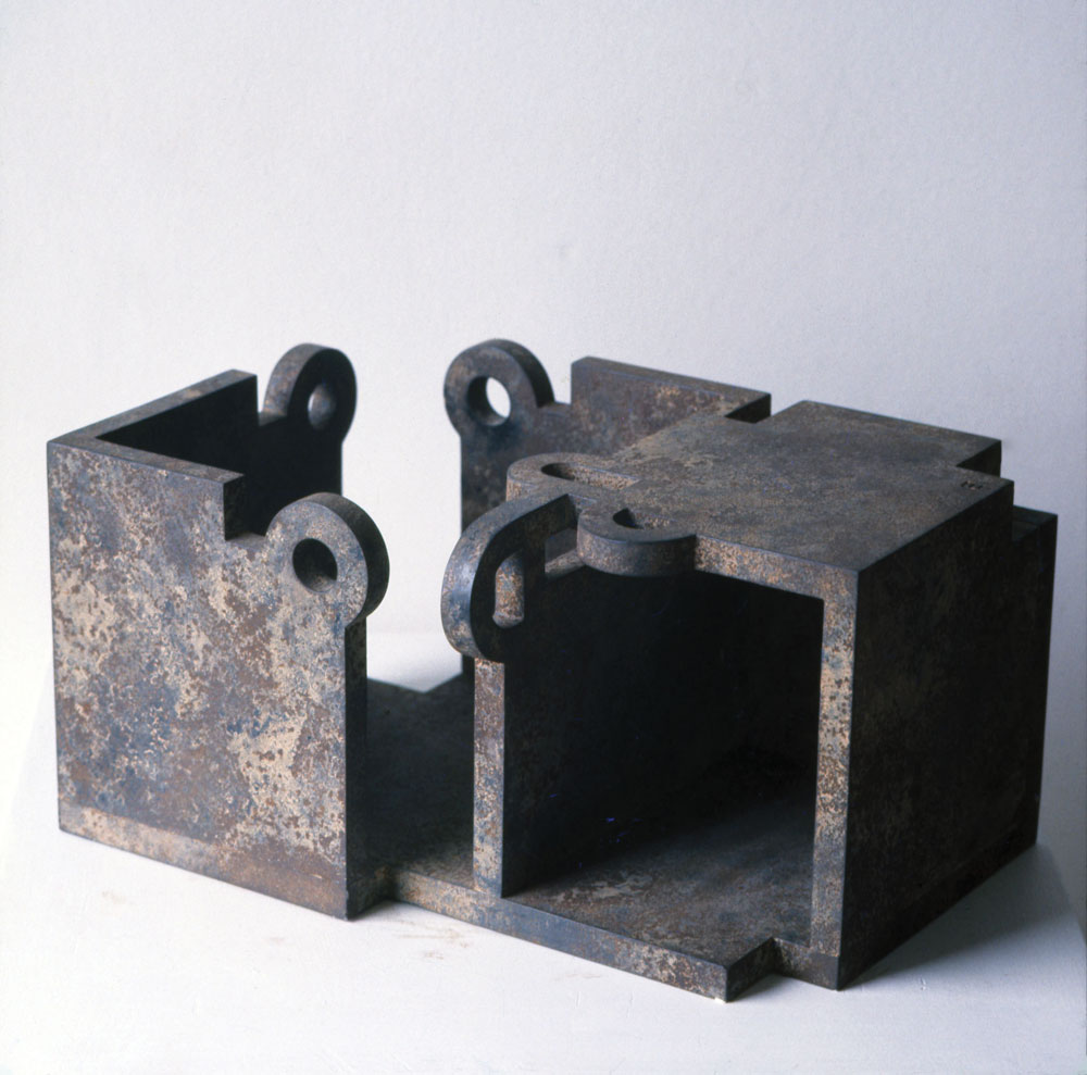 Eduardo Chillida, Gure Aitaren Etxea (1ª Version Nº 2) (Our Father's House (1st Version Nº 2), 1985, sculpture. © 2017 Zabalaga-Leku, Artists Rights Society (ARS), New York / VEGAP, Madrid.