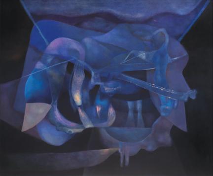 """Rafael Soriano, Serena imagen (Serene Image), 1991, oil on canvas, 50"""" x 60."""" Private Collection."""