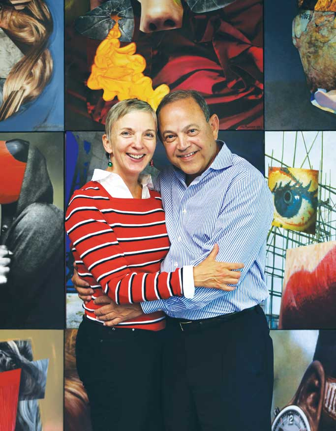 Art collectors Jorge Reynardus and his wife Patty Buttenheim.
