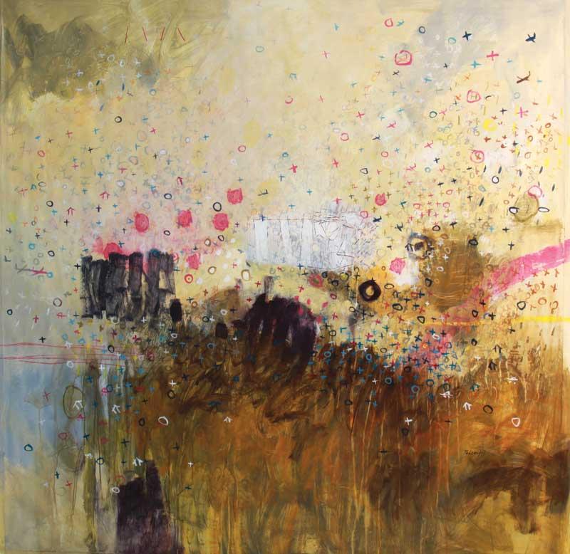"""Héctor Tadeo, Climate Sequence, acrylic on canvas, 67"""" x 67."""""""