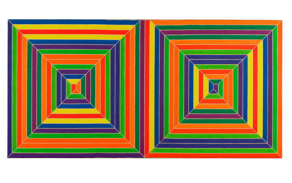 Frank Stella, Fortin de las Flores, 1966, synthetic polymer paint on canvas. NSU Art Museum Fort Lauderdale; gift of Mr. and Mrs. Thomas Scofield. © 2017 Frank Stella. Artists Rights Society (ARS), New York.