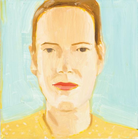 "Alex Katz, Sharon, 2014, oil on board, 12"" x 12."" Courtesy of the artist and Gavin Brown's enterprise, New York/Rome. Art © Alex Katz/Licensed by VAGA, New York, NY. Collection of Lance Uggla."