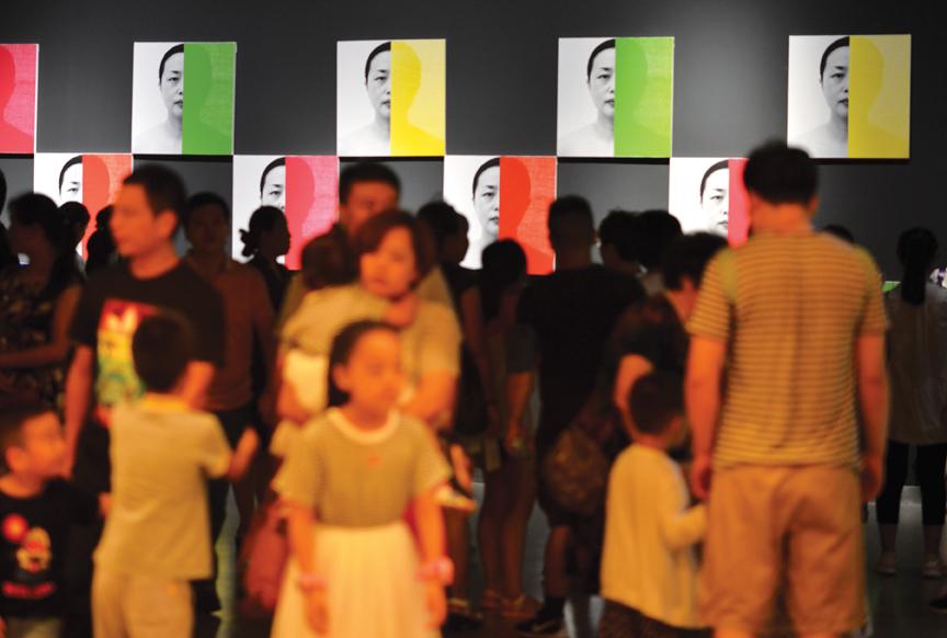 Zhang Hongmei solo exhibition at Shandong Museum, China, installation view.