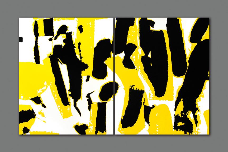 """Zhang Hongmei, Golden Shadow, 2017, cloth and acrylic, 133.85"""" x 82.67."""""""