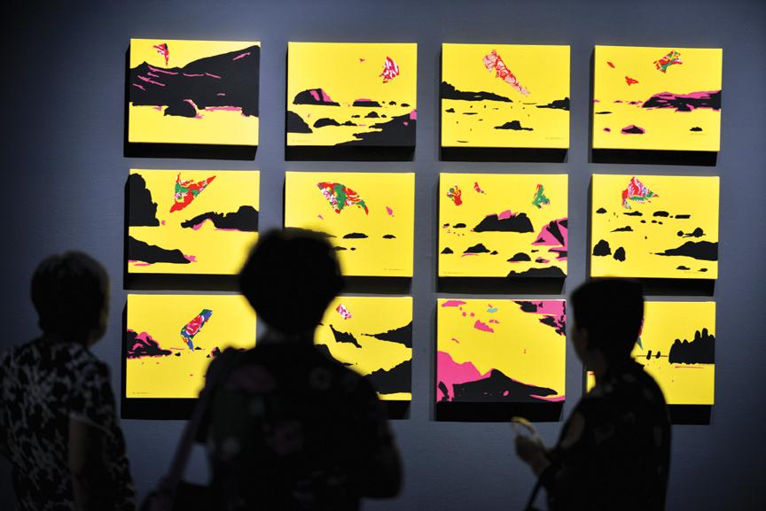 "Zhang Hongmei, Mental Landscape, 2017, cloth and acrylic, 16"" x 24,"" each piece."