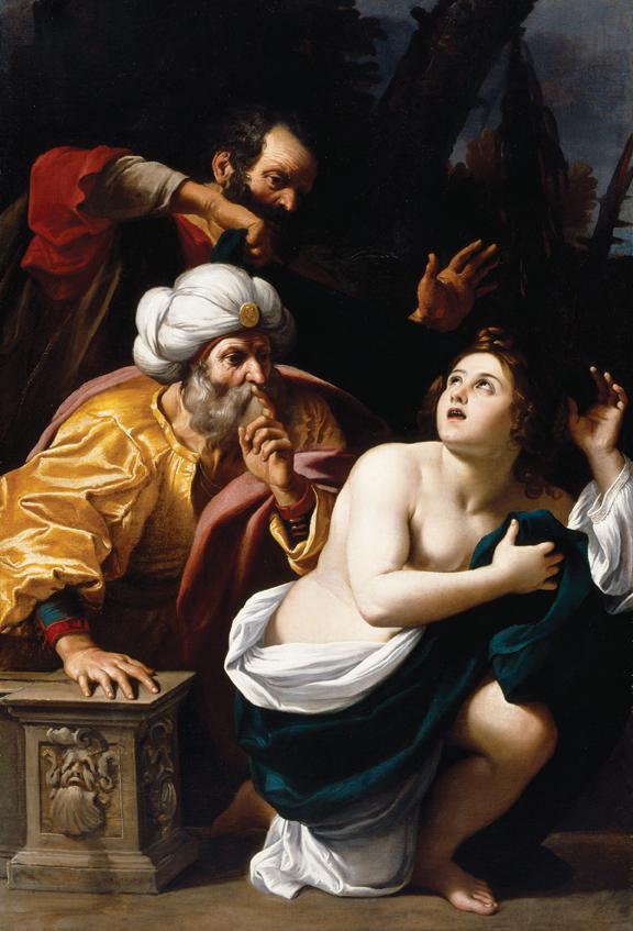 "Sisto Badalocchio, (b. 1585, Parma - d. 1619, Parma), Susannah and the Elders, ca. 1602–10, oil on canvas, 64"" × 44."" Bequest of John Ringling, 1936."