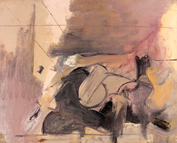 Nick Carone, Shadow Retreat, 1958, oil on board.
